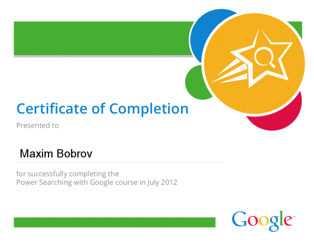 Power Searching with Google Certificate